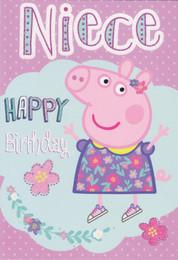 peppa pig niece birthday card