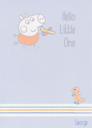 Peppa Pig - New boy Birth Greeting Card