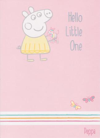 Peppa Pig - New girl Birth Greeting Card