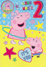 Peppa Pig - 2nd Birthday Card