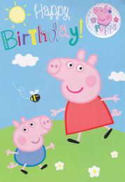 Peppa Pig - And George Birthday Card