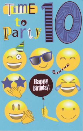 10th Birthday Card Emoji
