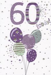 60 Today Birthday Card