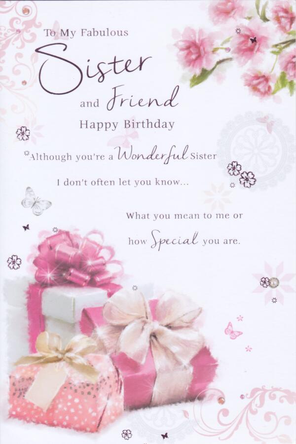 fabulous sister birthday card  cherry orchard  cardspark