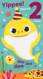 Baby Shark - Age 2 Birthday Card