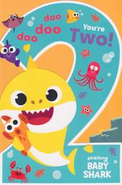 Baby Shark - 2nd Birthday Card
