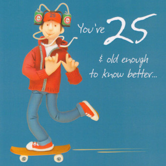 25th Male Birthday Card - Holy Mackerel