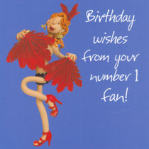 Number 1 Fan Birthday Card