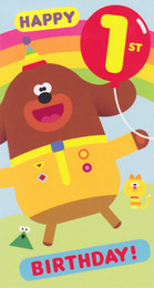 Hey Duggee - 1st Birthday Card