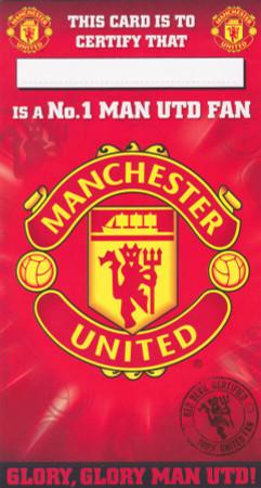 Man United - Number 1 Fan Birthday Card