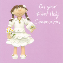 Fist Holy Communion Greeting Card - Female