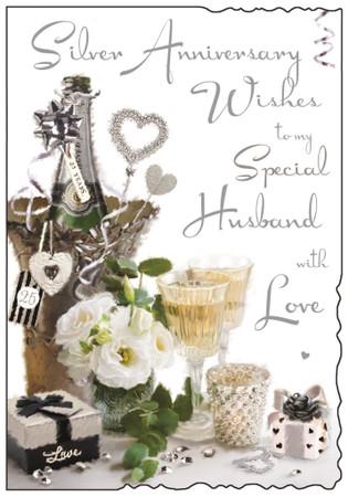 Husband's Silver Anniversary Card - Jonny Javelin