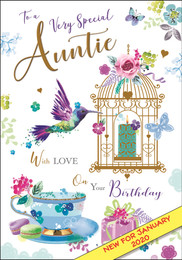 Auntie Birthday Card - Jonny Javelin