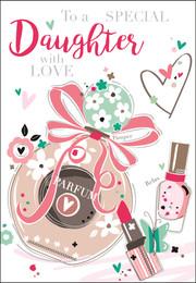 Daughter's Birthday Card - Bling