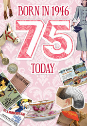75th Birthday Card Female