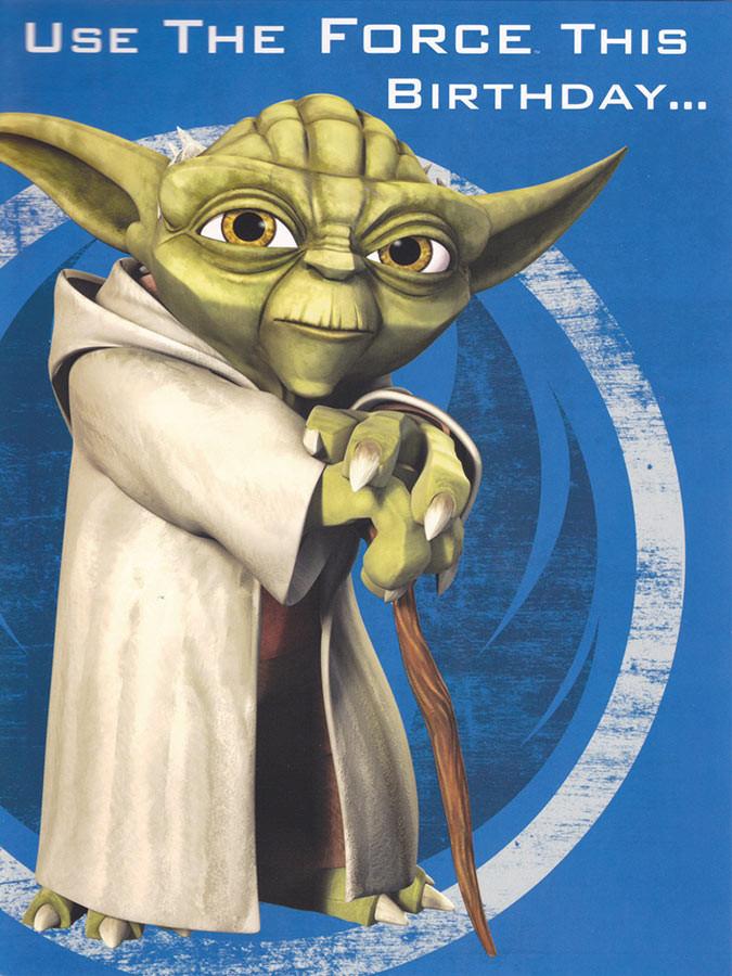 Star Wars Clone Wars Yoda Birthday Card Pop Up Cardspark