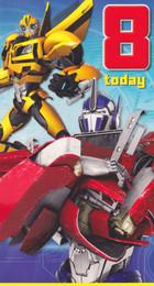 Transformers - 8th Birthday Card