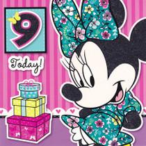 Disney Minnie Mouse Age 9 Birthday Card