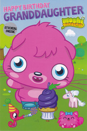 Moshi Monsters Granddaughter Birthday Card