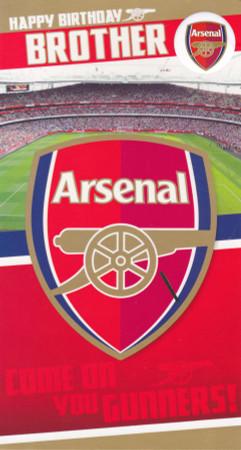 Arsenal Brother Birthday Card