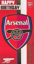 Arsenal Football Club - Crest Birthday Card