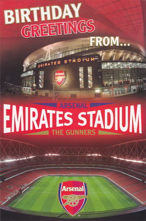 Arsenal Football Club Stadium Birthday Card Pop-Up