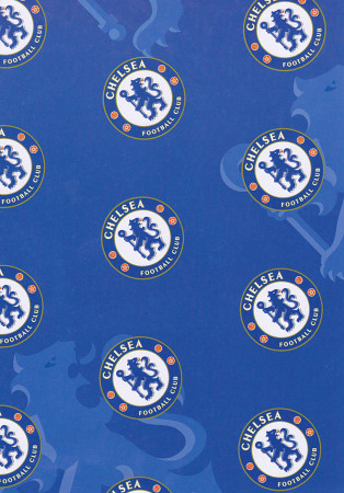 Chelsea Football Gift Wrapping Paper