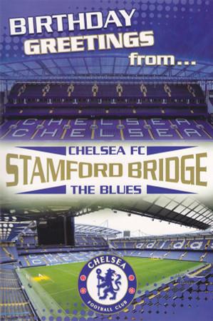 Chelsea Football Club Stadium Birthday Card Pop-Up