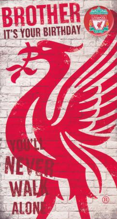 Liverpool Football Club Brother Birthday Card