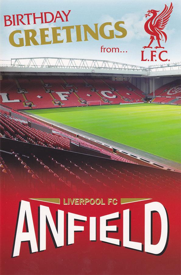 Liverpool Football Club Stadium Birthday Card