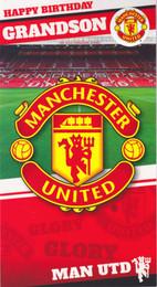 Manchester United Grandson Birthday Card