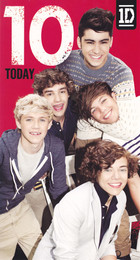 One Direction Age 10 Birthday Card