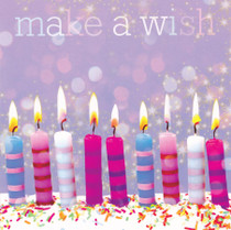 Framed Make A Wish Candles Birthday Card