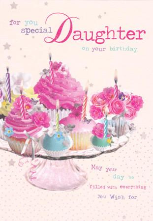 Birdsong Daughter Birthday CakeTray Card