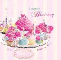 Birdsong Happy Birthday Cupcake Card