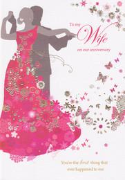 Sara Miller Wife Silhouette Anniversary Card