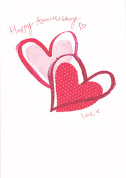 Xiss Anniversary Love Heart Card