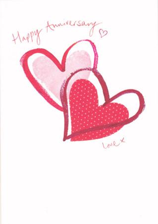 Xiss Anniversary Love Heart Card