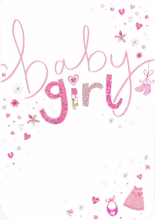 11bab8af8f0db New Birth Baby Girl Card - Coco Eclaire