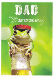 Framed Dad Birthday Card King For a Day Frog