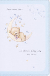 Yours Truly Baby Boy Once Upon a Time Teddy Card