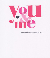 Bold Colour Anniversary You And Me Card