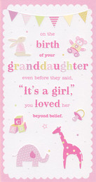 CCI New Baby Granddaughter Card