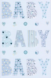 Jasmine Baby Baby Baby Blue Card
