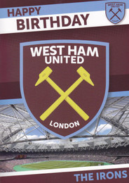 West Ham United Birthday Card