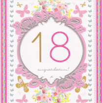 Stephanie Rose Age 18 Birthday Card - 18th