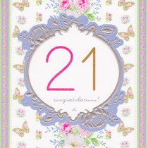 Stephanie Rose Age 21 Birthday Card - 21st