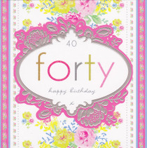 Stephanie Rose Age 40 Birthday Card - 40th