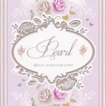 Stephanie Rose Pearl 30th Anniversary Card