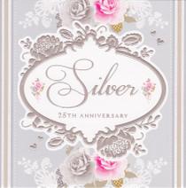 Stephanie Rose Silver 25th Anniversary Card